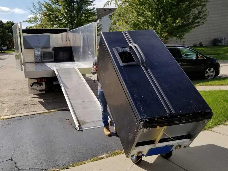 We haul away old broken appliances and do dump runs
